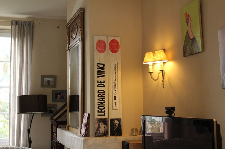 2 bookofobaord dernière création léonard de vinci et jules Verne 105*17*1.35 cm en vente sur ETSY