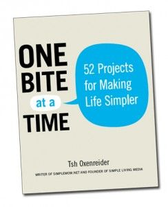 One Bite at a Time by Tsh Oxenreider (Simple Mom) - Simple Mom's ebook has 52 brief chapters, each containing one step you can take to simplify your life. I'm slowly adopting some of them in the hopes to be more intentional and less frazzled.