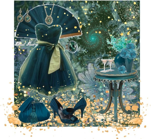 """""""The Colors: Midnight Green"""" by fiordiluna on Polyvore"""