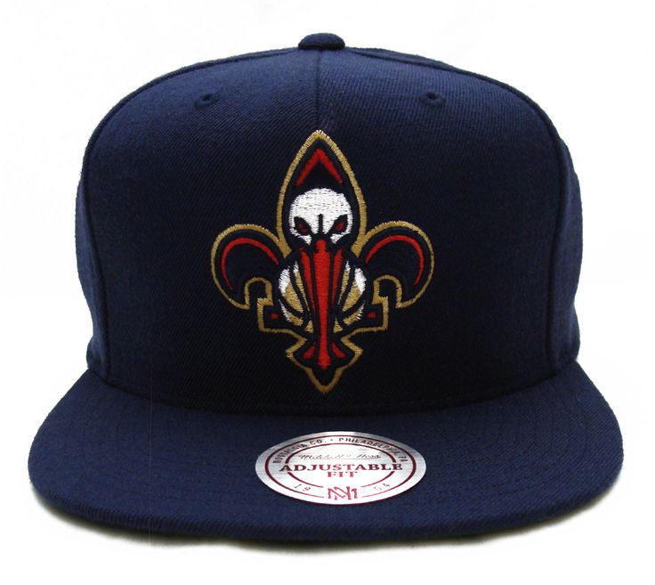 new orleans pelicans hats | New Orleans Pelicans Mitchell & Ness Logo Snapback Cap Hat Wool All ...