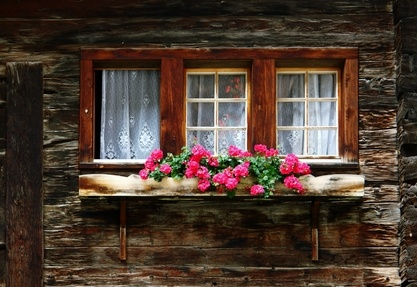 rustic window planter box beautiful spaces places and things pinterest window window. Black Bedroom Furniture Sets. Home Design Ideas