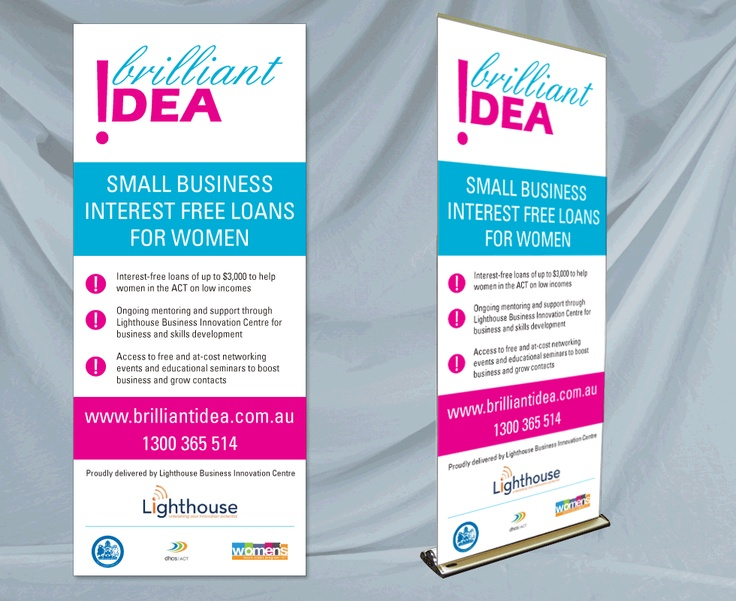 graphic design by red instead popup banner for brilliant idea - Banner Design Ideas