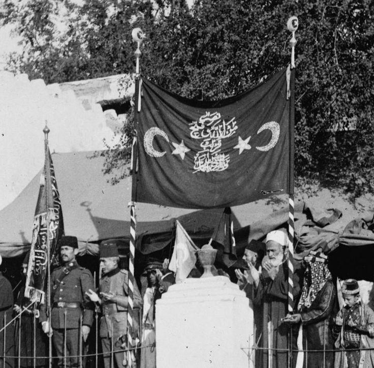 SHERIF OF MEDINA PREACHING FOR THE JIHAD BEFORE THE WAR, WWI, 1914 Osmanlı Medinesi, Medine Şerifinin Cihat Vaazı, 1914