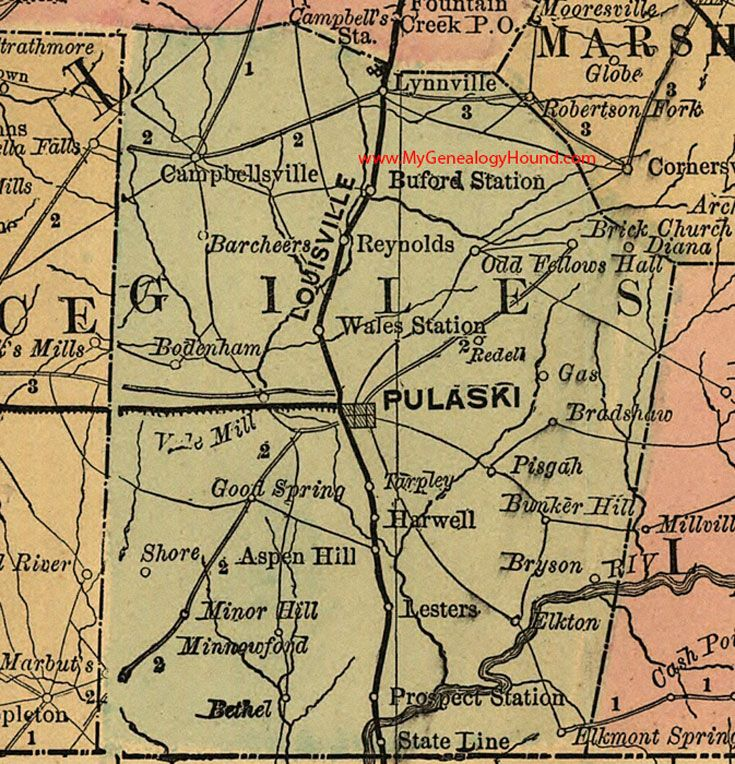 96 Best Images About Vintage Tennessee County Maps On