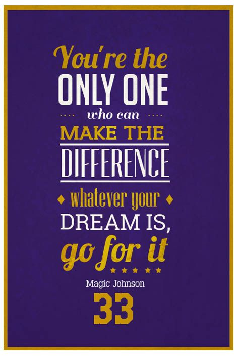 ''Magic Johnson Quote on Print. See more at www.finesportsprints.com #johnson #sportsquote #lakers''
