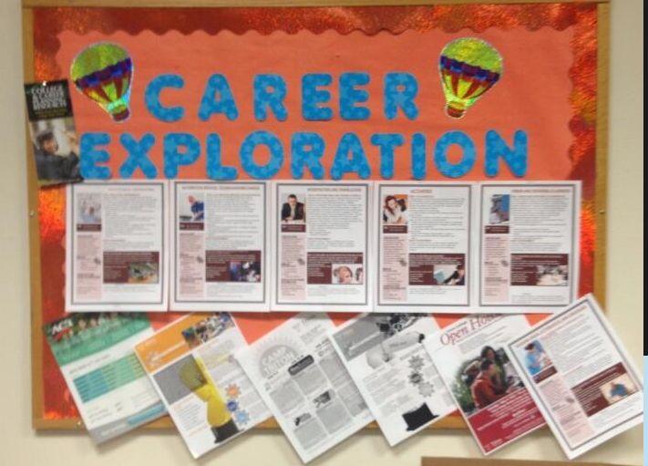 career exploration bulletin board.
