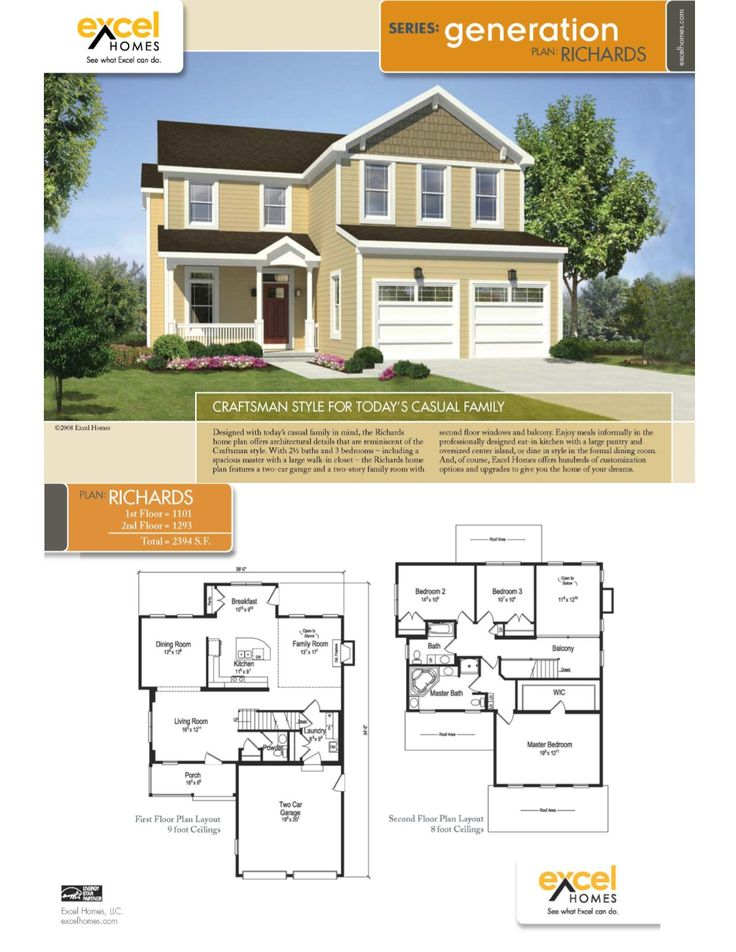 The Richards Two Story Home 2394 square