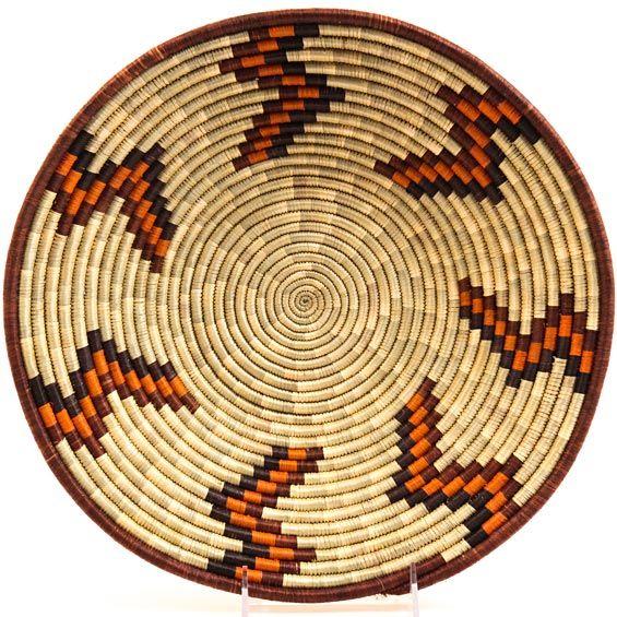 BASKET WEAVING IN ghana AFRICA | Uganda Baskets - Rwenzori Bowl 13 Inches 26624