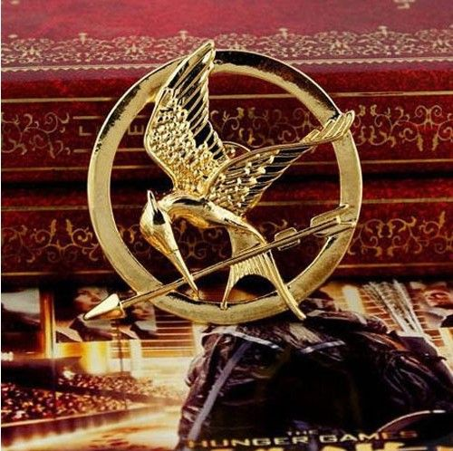 Promotion!New Arrival European Hot Movie Hunger Games Bird Brooch Pins For Women And Men Free Shipping 2013