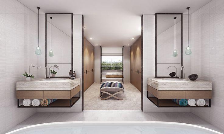 Modern bathroom inspiration by COCOON | bathroom design products | bathroom design | wash basins | sturdy stainless steel bathroom taps | interior design | villa design | hotel design | Dutch Designer Brand COCOON | SJB | Projects The Pacific Apartments