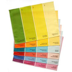 Paint Chip Placemat Multi 6Pk, $68, now featured on Fab...love these...so fun! They also have napkins