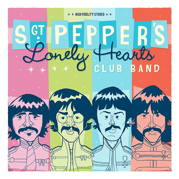 The Beatles - Sgt Pepper's Album Cover on Behance