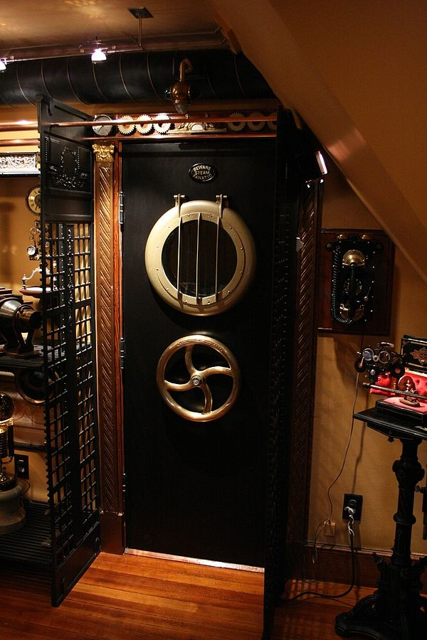 Steampunk home. Bruce and Melanie Rosenbaum started ModVic (Modern Victorian) Home Restoration in June 2007 and have now moved onto steampunk Home Design. Follow link to see more pictures.