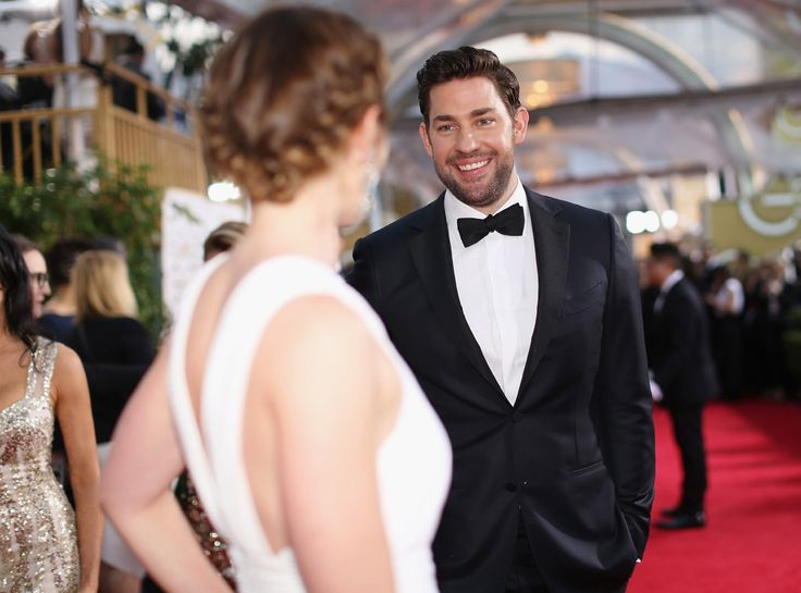 John Krasinski is literally the heart eyes emoji looking at his wife Emily Blunt...SWOON!