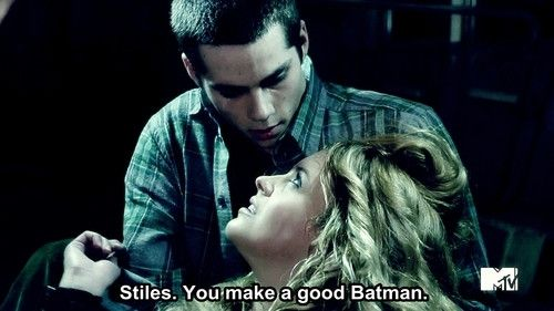 TEEN WOLF Stiles Is My Batman Heart Pendant Necklace