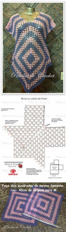 crochet granny square dress