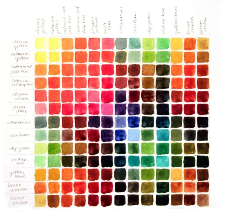 25 Best Watercolor Charts Images On Pinterest