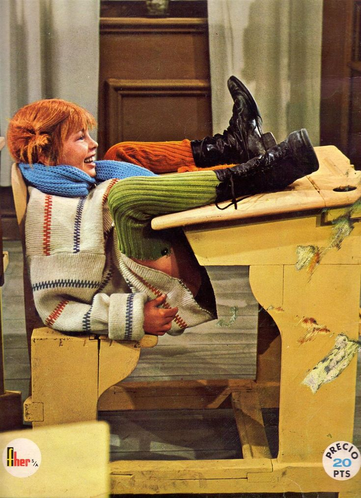 this photo is just like me in sixth form literature lessons at the back of the class on a monday morning , it really is the best way to sit to tackle shakespeare at 9a.m Pippi at school