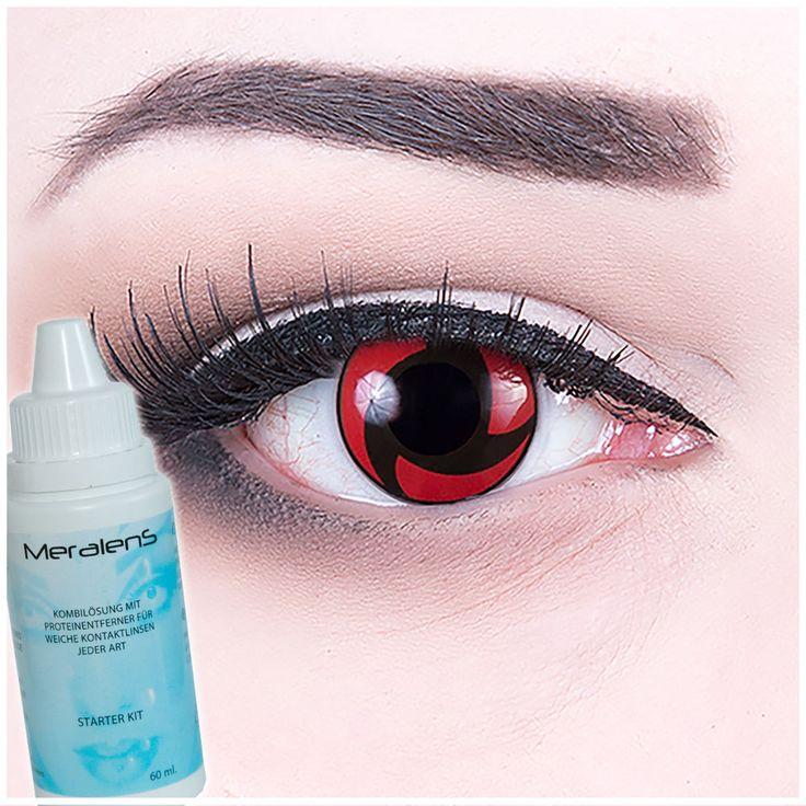 """Contact Lenses """"Mangekyou Sharingan"""" Manga Eyes Cosplay + Free Case Halloween"""