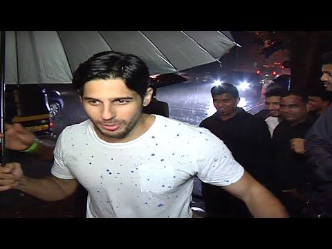 Sidharth Malhotra spotted at director Anand L Rai's 45th birthday bash.