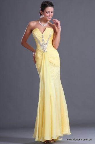 Mode günstig Abendkleid in Gelb