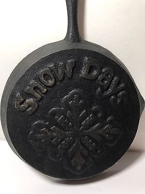 Snow Days Mini Cast Iron Skillet Wall Hanger/Spoonrest  | eBay