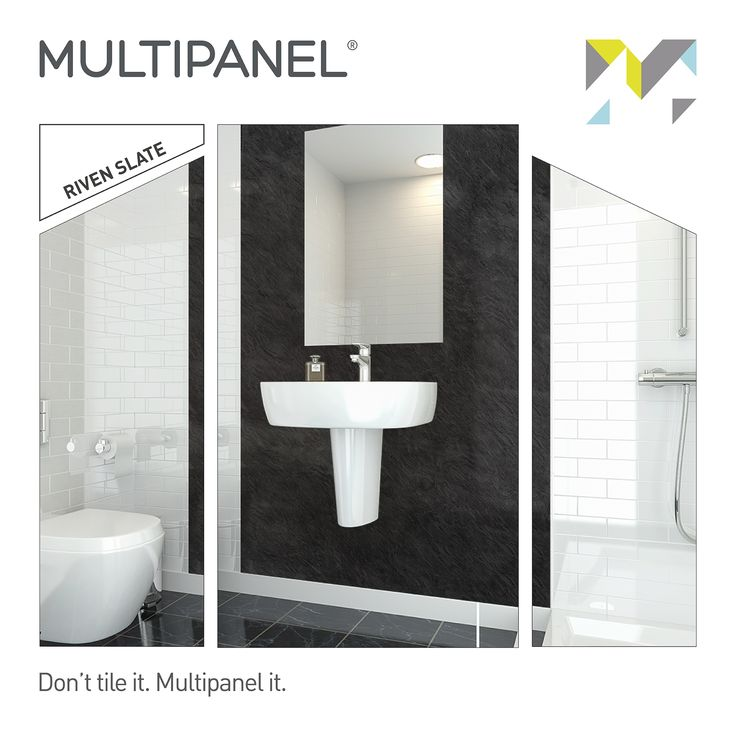 This week our featured #paneloftheweek is Riven Slate.  Give your bathroom a timeless finish.  Www.multipanel.co.uk