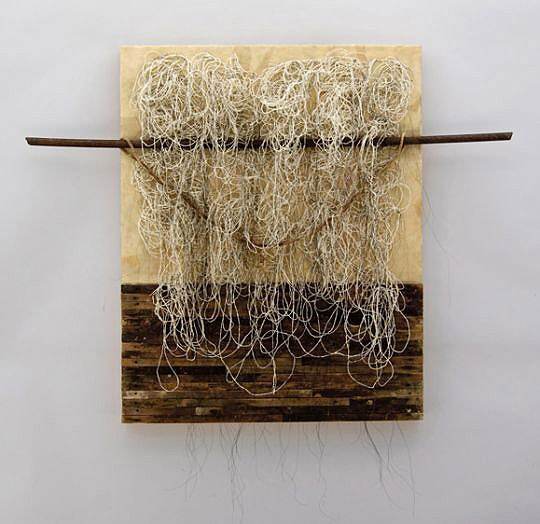 "Encaustic Art, Kathy Miller, Artist, Girded, 2011, 38 x 24 x 5 inches, ""Encausti…"