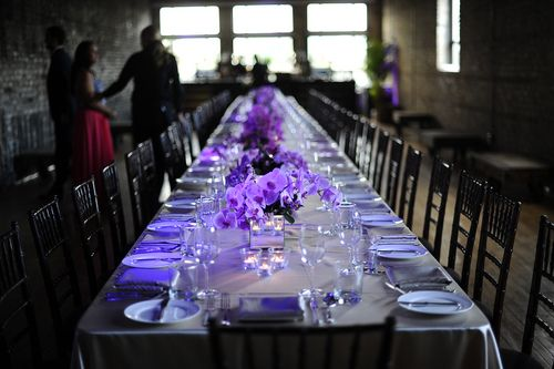 this room is beyond. #dinner #event #tablesetting #purple #party #interiordesign #colourtheory #colortheory