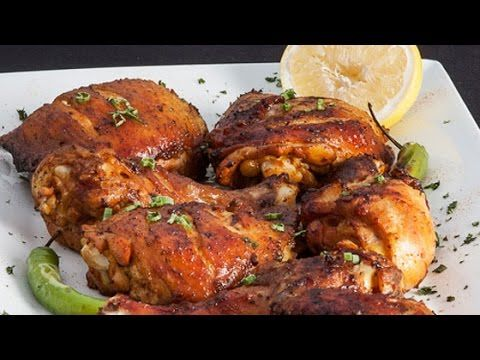 How To Make BBQ Grilled Chicken - Grilled Roaside Chicken Recipe - Weber Grill - YouTube