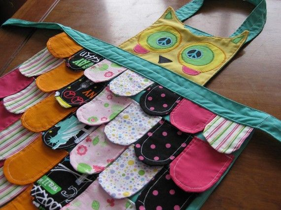 owl apron: Diy Ideas, Rainbows Owl, Crafts Ideas, Aprons Ideas, For Kids, Kids Owl Crafts, Children Toys, Diy Gifts, Owl Aprons