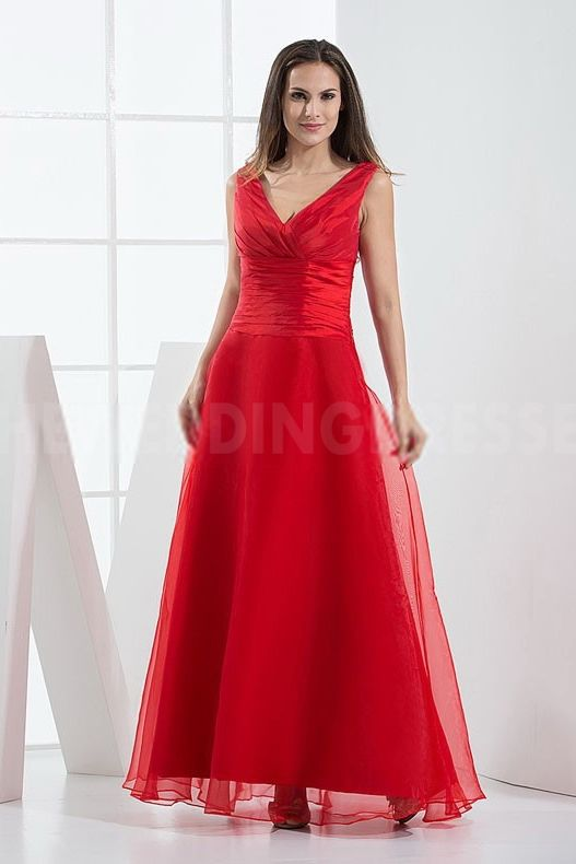 Luxury Red Satin Bridesmaids Gowns - Order Link: http://www.theweddingdresses.com/luxury-red-satin-bridesmaids-gowns-twdn5306.html - Embellishments: Pleating; Length: Floor Length; Fabric: Satin; Waist: Natural - Price: 90.5769USD