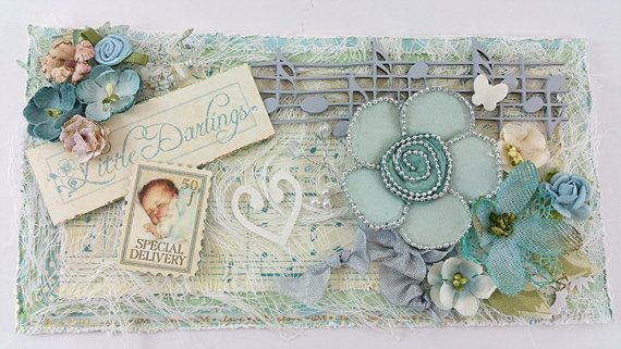 Handmade 3D Baby Blue Announcement or by SillySalCreates on Etsy