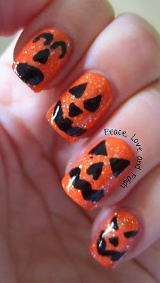 Peace, Love & Polish halloween #nail #nails #nailart