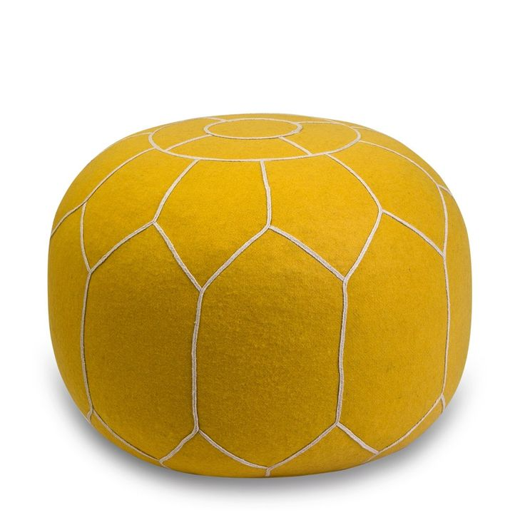 Yellow Felt Ottoman - a georgeous Moroccan-spired pouf | Me & My Trend