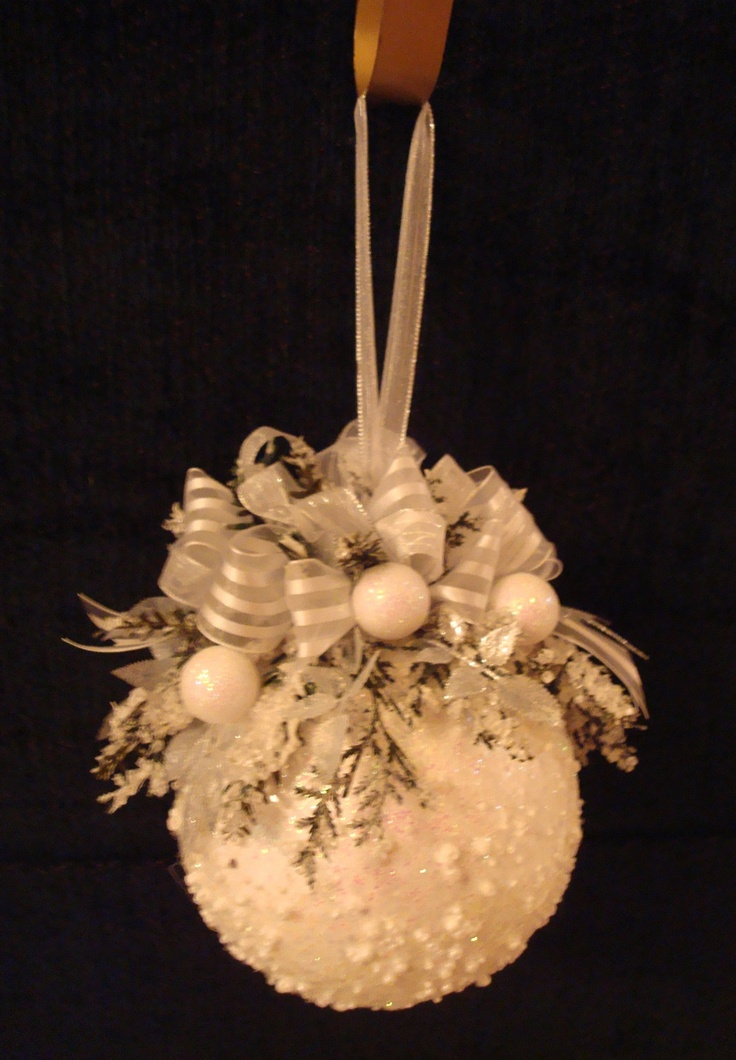 Ornament Inspiration - Snow ornament originally sold on etsy, no longer available