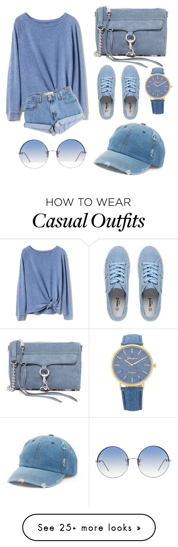 """for a sunny day yet chilly weather, your casual (blue) sunday afternoon look."" by scrindipity on Polyvore featuring Gap, Levi's, Rebecca Minkoff, Linda Farrow and Mudd"