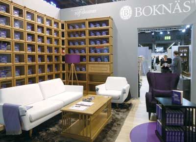 Boknas showcases efficient function and elegant form in this living room setting at Habitare.