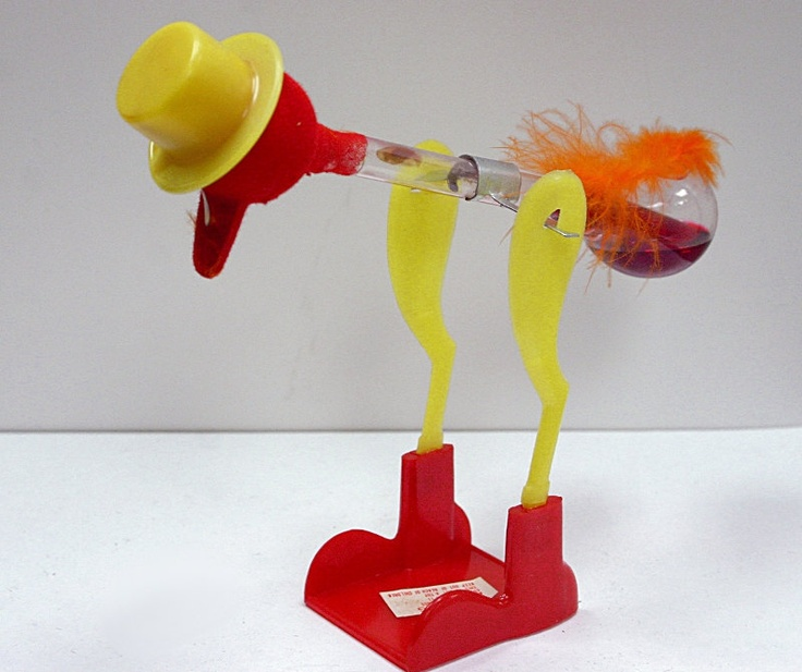 Happy Drinking Bobbing Glass Bird--I remember these when I was a kid!!!