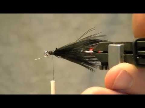 Fly tying video how to tie the craigs night - time fly. Fly tying Australia.
