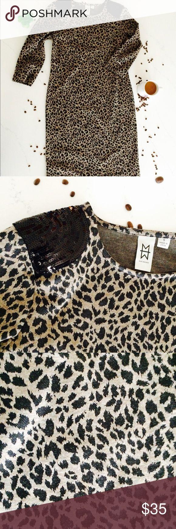 Marc Bouwer animal print sequin dress See above Mark Bouwer Dresses Midi