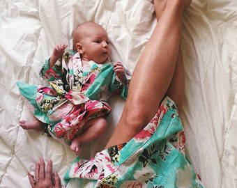 Maternity set of mommy and newborn robe in choice of by comfymommy