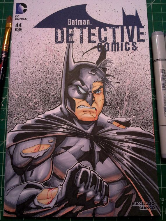 Batman Detective Comics Sketch Cover by TeamSuperAwesomeArt