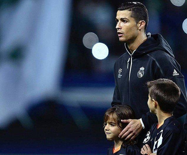Cristiano Ronaldo stood alongside his nephew ahead of Real Madrid's Champions League win