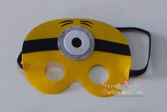 Minion Mask Minion Party Favors Minion Birthday by partiesandfun
