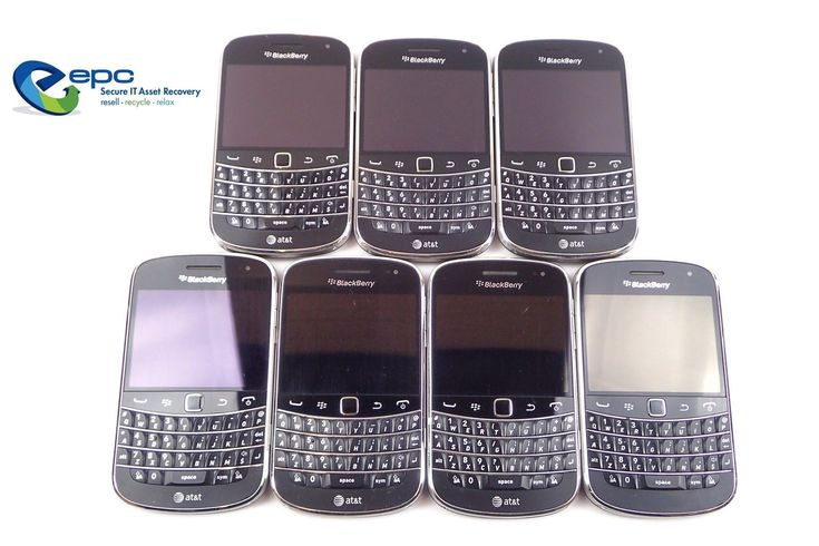 Lot of 7 AT&T BlackBerry Bold Touch 9900 8GB Smart Phones