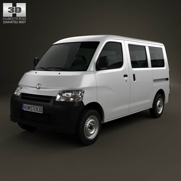 Daihatsu Gran Max Minibus 2012 3d model from humster3d.com. Price: $75