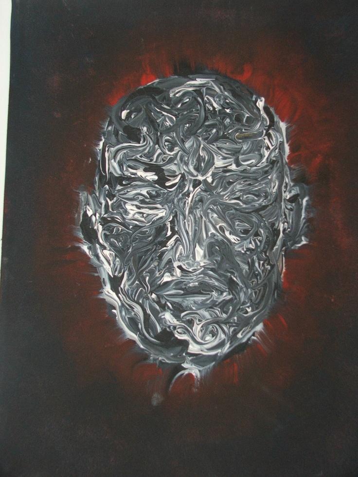 Reborn  2007  30*40  tempera on canvas