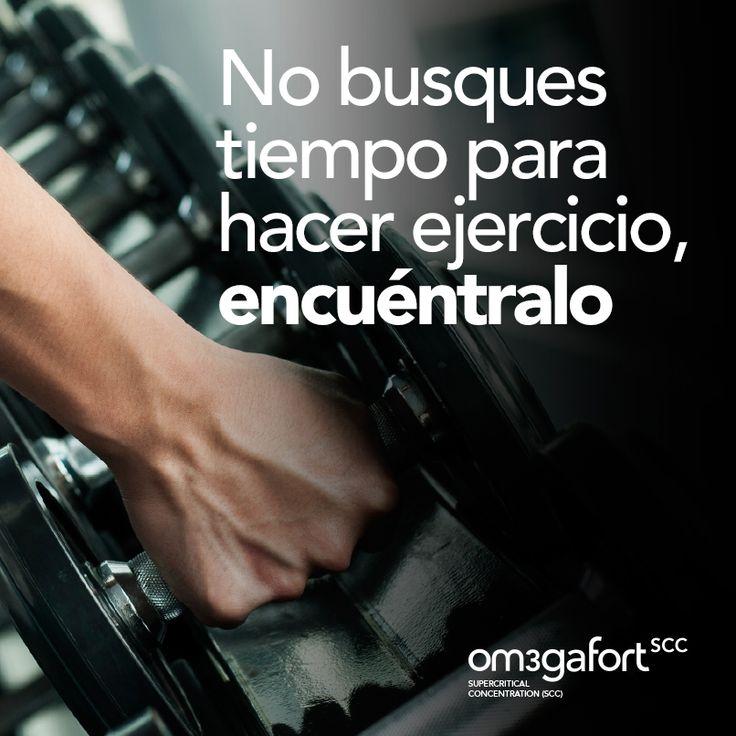 No busques tiempo para hacer ejercicio, encuéntralo.  #frases #deporte #motivación