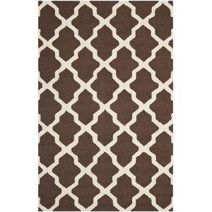 Vlnený koberec Ava, 152x243 cm, hnedý